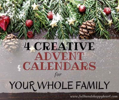 4 Creative Advent Calendars for Your Whole Family